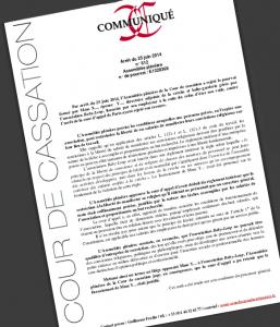 Communiqué Cour de cassation 20 juin 2014 affaire Baby Loup